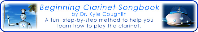 Learn how to play the clarinet with the Beginning Clarinet Songbook